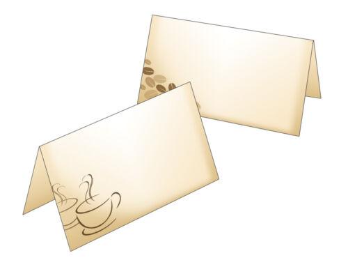 50 Tischkarten Namenskarten Platzkarte Geschenkanhänger Kaffee Kaffeetasse Cafe