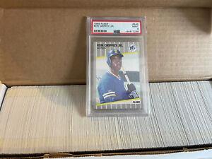 1989 Fleer #548 Ken Griffey Jr. PSA Mint 9 Rookie card RC Plus Complete Set