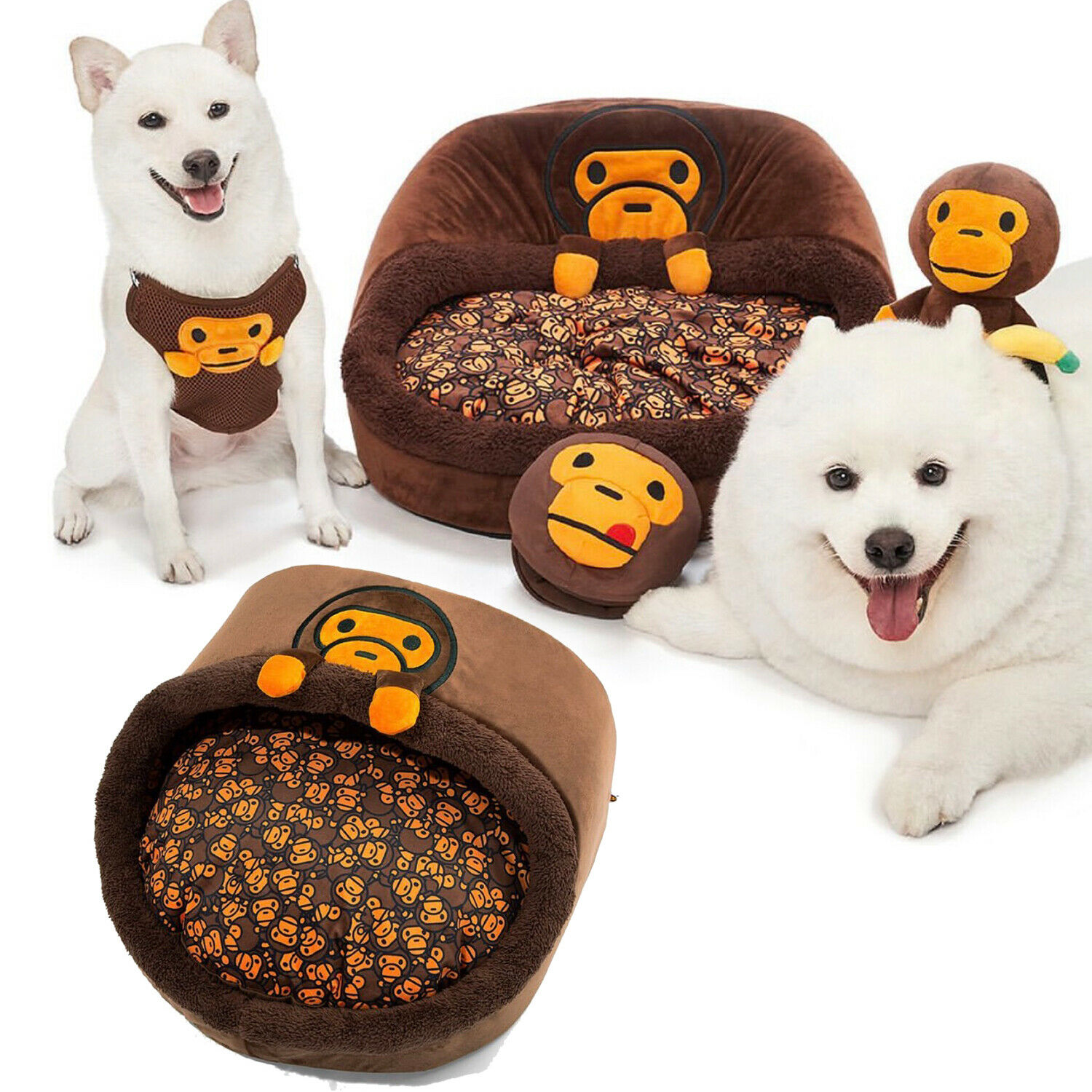 Pet Collection A BATHING APE BABY MILO STORE BABY MILO ROUND SHAPED PET BED NEW