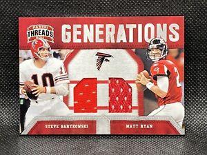 2011-Panini-Threads-Steve-Bartkowski-Matt-Ryan-Generations-299-GU-Jersey