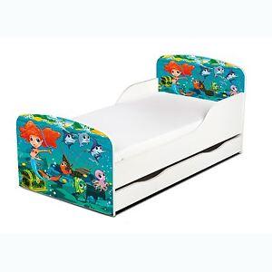 meerjungfrau kleinkind bett mit lager m dchen junior kinder schlafzimmer ebay. Black Bedroom Furniture Sets. Home Design Ideas