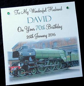 Personalised flying scotsman birthday card 2 card sizes 6 or 8 image is loading personalised 039 flying scotsman 039 birthday card 2 bookmarktalkfo Images