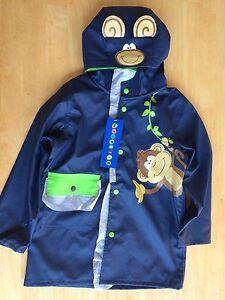 2cbfd3053 Image is loading NWT-Wippette-Boys-Raincoat-Jacket-Hooded-Monkey-Size-
