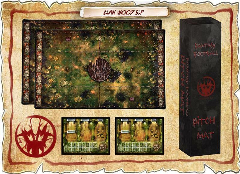 Fantasy Football Pitch and Dugout Mat Clan Wood Elf (Blood Bowl Compatible)