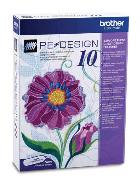 Brother Pe Design 10 Digitizing Embroidery Software Ebay
