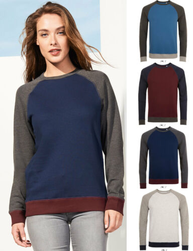 SOL/'S Ladies Contrast Sleeves Sweat Shirt Jumper Casual Smart Stylish Fashion