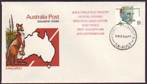 1977 SPECIAL COVER OPENING OF PORT AUGUSTA PHILATELIC SALES CENTRE **RARE**