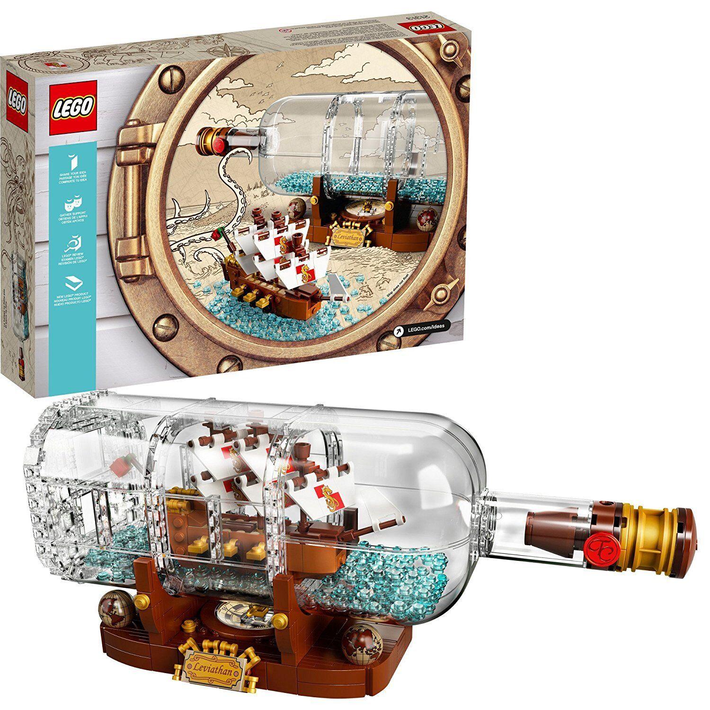 Lego Ideas  barco En Una Botella - 21313 [construcción Juguetes, Niños, 962 piezas con soporte] NUEVO