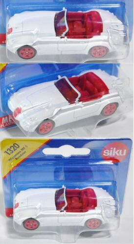 1:53 Siku Super 1320 Wiesmann mf5 Roadster p28 interior rojo aprox embalaje original puramente blanco