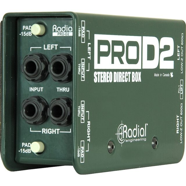 Radial ProD2 Stereo Direct DI Box Superb Audio Quality the Go-To Production Tool