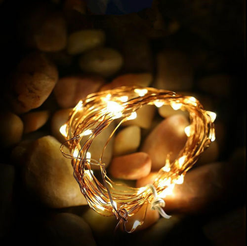 20 50 LEDs 5M 2M Battery Operated Mini LED Copper Wire String Fairy Lights