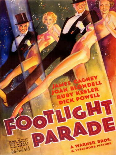 112005 FILM FOOTLIGHT PARADE CAGNEY DANCE TOP HAT TAILS LAMINATED POSTER CA