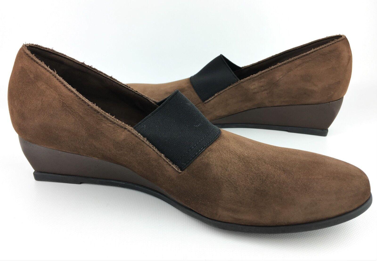 Arche 'Emyone' Brown Brown Brown Nubuck Slip-ons Wedge Pumps sz  37.5 US 6.5 -  365 203a52