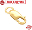 14K Solid Gold Jewelry Lobster Clasp w Jump Ring Necklace Lock Replacement 8x3mm