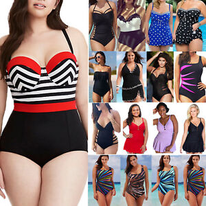 c9c68e18a7 Plus Size Women s Monokini One Piece Swimwear Bathing Suit Swim ...