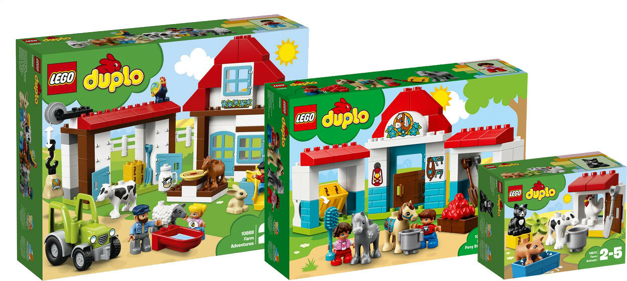 LEGO DUPLO 10870 10869 10868 Bauernhof Pferdestall The Farm complete   N1/18