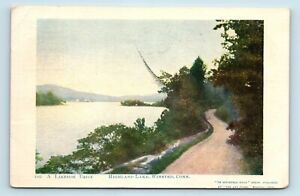 Winsted-CT-c1908-LAKESIDE-DRIVE-DIRT-ROAD-POSTCARD-L7