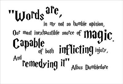 **WORDS ARE**  HARRY POTTER ALBUS DUMBLEDORE WALL QUOTE -  STICKER DECAL GRAPHIC