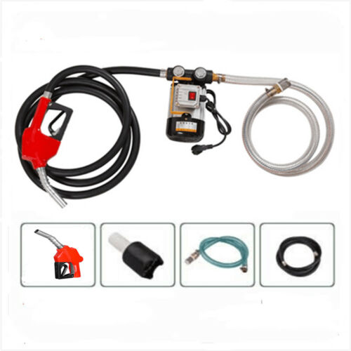Self Prime 110V AC 16GPM Oil Transfer Pump with Inlet&Outlet Hose &Nozzle Set US