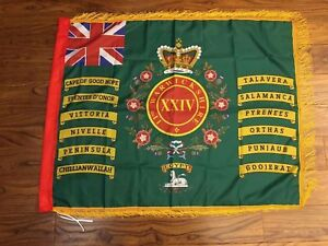24th-The-2nd-Warwickshire-regiment-of-foot-Fringed-flag