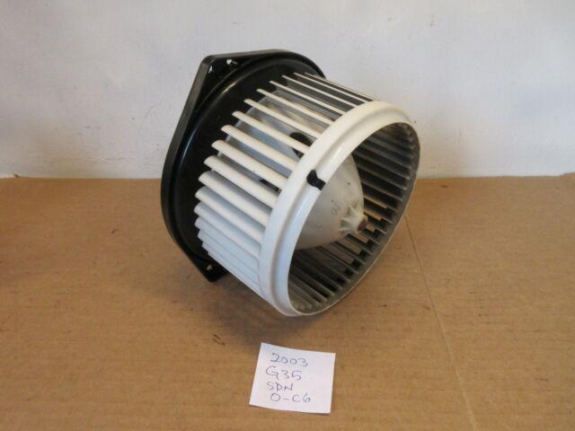 2003 03 Infiniti G35 Sedan Air Ac A  C Blower Motor Heater Fan Full Assembly Oem