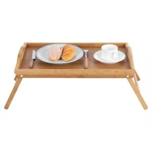 Bamboo-Wooden-Bed-Tray-w-Folding-Legs-Serving-Breakfast-Lap-Tray-Table-Mate-OZ