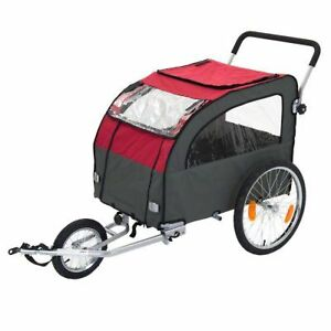 Large Dog Bike Trailer With Jogging Kit Bicycle Carriage Pet Carrier