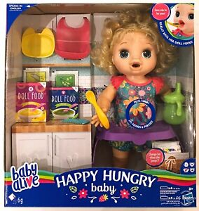 Baby Alive Happy Hungry Eats Drinks Poops Doll Set New Girls Toy Gift 3 Years Ebay