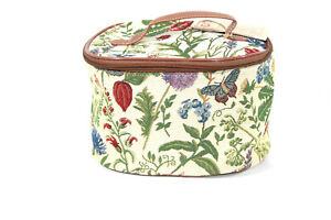 Signare-Kosmetik-Tasche-Blume-Sonnenblume-Kaefer-Libelle-Gobelin-Nessesair-Reise