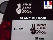 STICKER AUTOCOLLANT MOTARD A BORD POUR  VOITURE MOTO