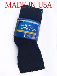 """Dr. Scholl's Men's Diabetic Ankle Socks 2-Pack  """"COMFORT & RELIEF""""   MADE IN USA"""