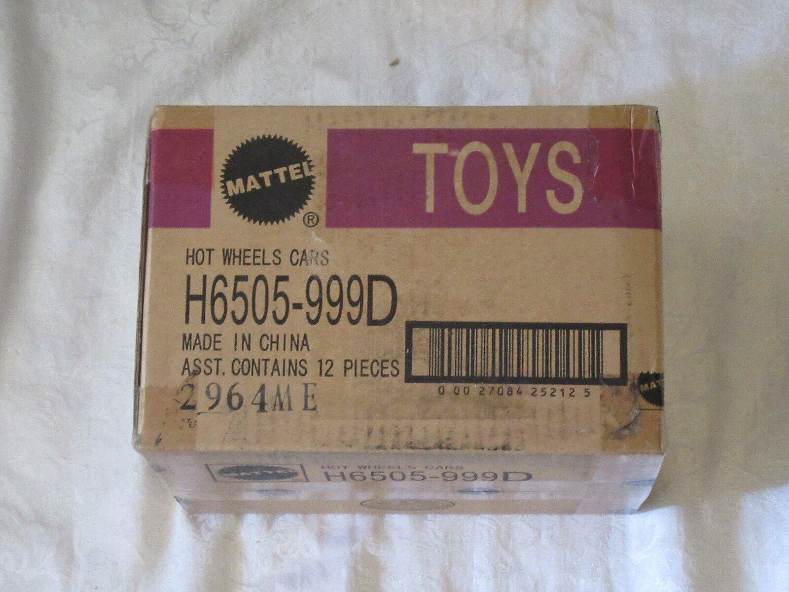 Mattel Hot Wheels Cars Sealed Case H6505-999D 2964ME 2964 ME 12 Pieces