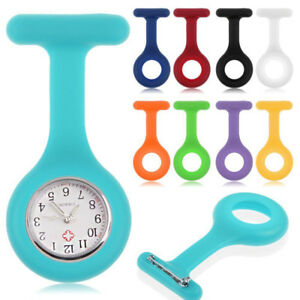 New-Silicone-Nurse-Watch-Brooch-Fob-Pocket-Tunic-Movement-Watch-Jewelry-Cover