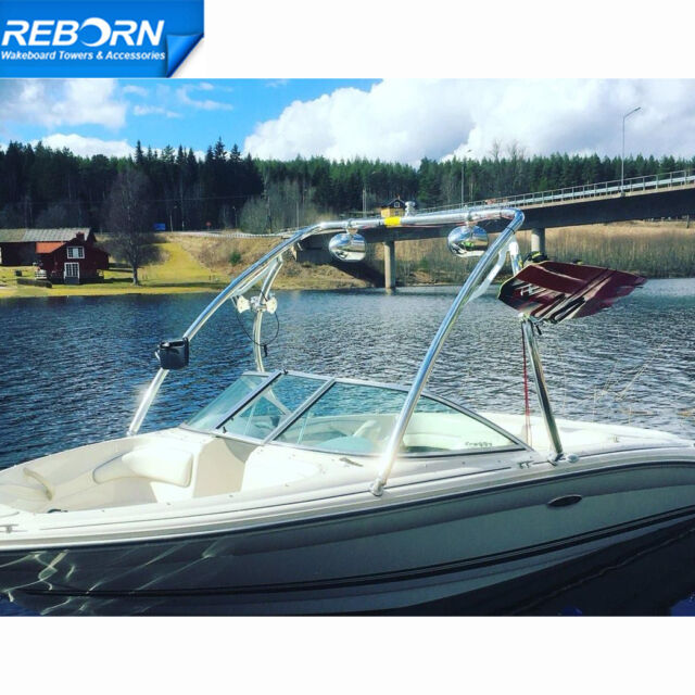 Promotion Reborn Elevate Wakeboard Tower Shining Polished With LED Nav Light