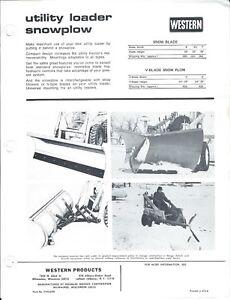 Equipment-Brochure-Ad-Western-Utility-Loader-Snowplow-Snow-Blowers-E4810