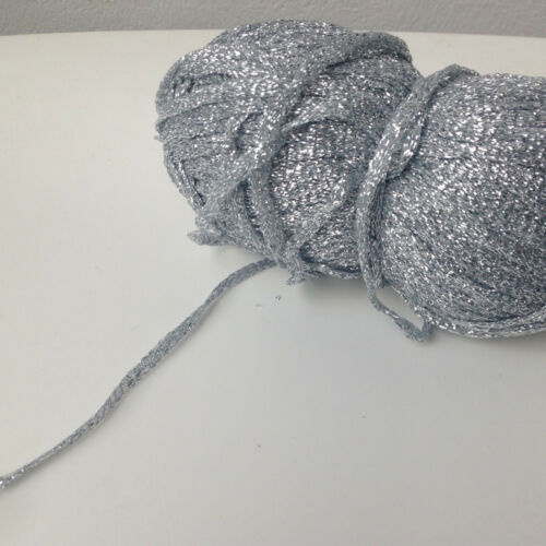 Silver Metallic Yarn Glitter Silver thread Sparkling Lurex Ball Sparkle