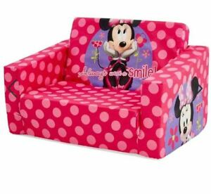 Girl Disney Minnie Mouse Kids Flip Out Sofa Flipout Sofa Chair Day