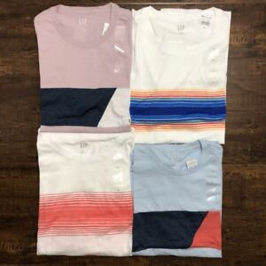 Gap-Men-039-s-Short-Sleeve-Chest-Strips-Crew-Neck-Tee-T-Shirt-NEW-S-M-L-XL-XXL