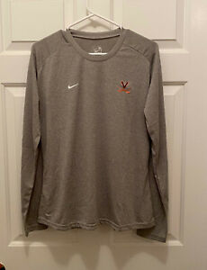 New Virginia UVA Cavaliers Women's Soccer Team Issued Nike Gray T-Shirt XL