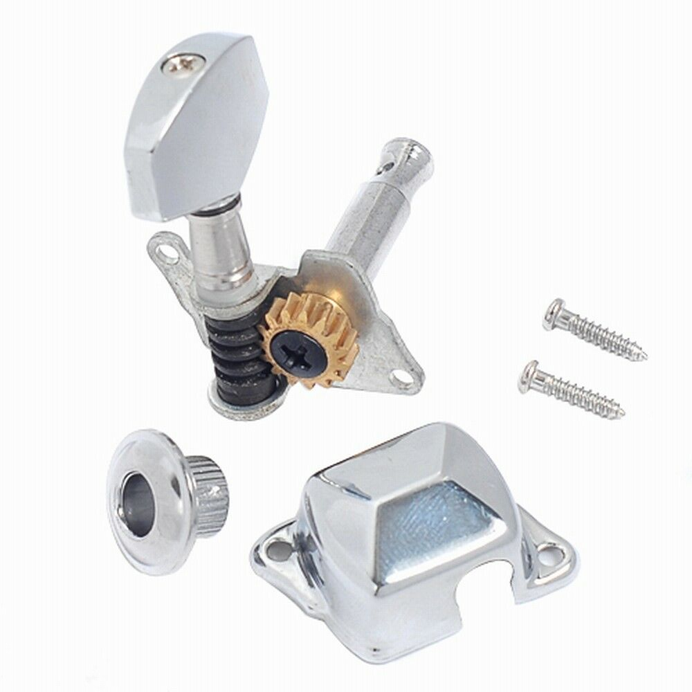 electric guitar tuning pegs machine heads for fender parts 6r chrome 634458553766 ebay. Black Bedroom Furniture Sets. Home Design Ideas