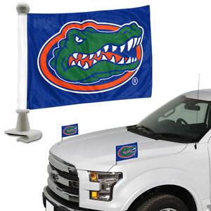 Florida-Gators-Set-of-2-Ambassador-Style-Car-Flags-Trunk-Hood