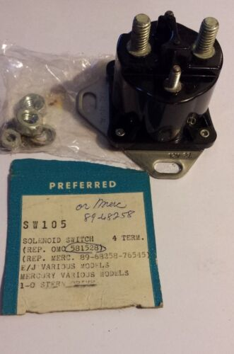 76545 Preferred Electric SW105 Solenoid Switch  OMC 0581528  Mercury 89-68258