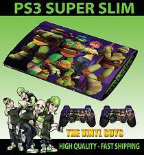 Playstation Ps3 Superslim Nick Toon Mutant Ninja Turtles Skin Sticker & Pad Skin