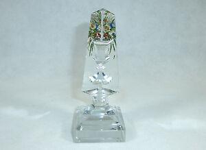 Bohemian/czech Pottery & Glass Brave Paperweight Obelisk Bohemia Um 1830