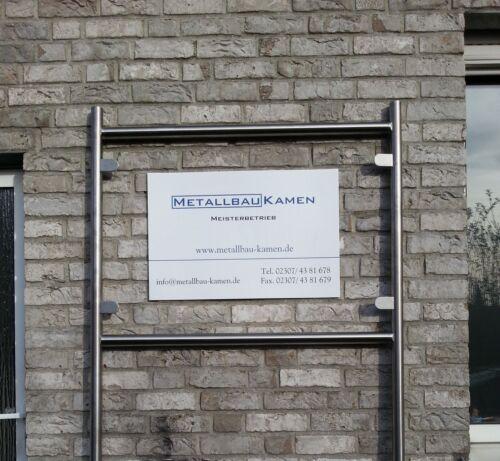 Edelstahl,Werbeschild Ständer,42mm Rohr,Firmenschild,Infoständer,Reklame Schild