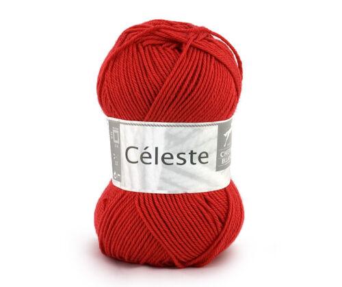 50g CÉLESTE CHEVAL BLANC Baumwolle+Seide Baby-Wolle Cotton Silk Soft 6,80€//100g