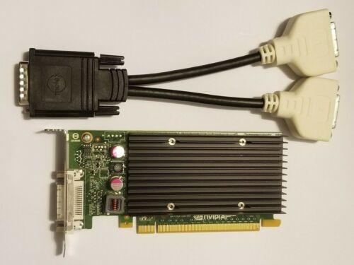 NVIDIA QUADRO NVS 300 512MB PCI-E Low Full Pro Video Card /& Dual VGA DVI Monitor