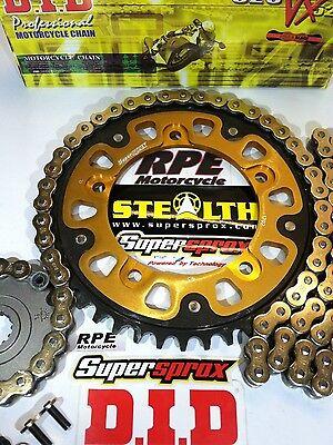 Fits Triumph Daytona 675 2013-2016 DID Gold /& Black X-Ring Chain /& JT Sprockets