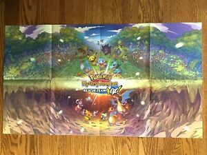 Official HUGE Pokemon Mystery Dungeon / Animal Crossing New Horizons Poster RARE