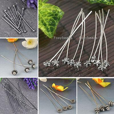 Wholesale T/Star/Flower Head Needles Earring Dangle Finding Bead DIY Jewelry HOT